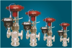 Pneumatic Positioner Operated Controls Valve