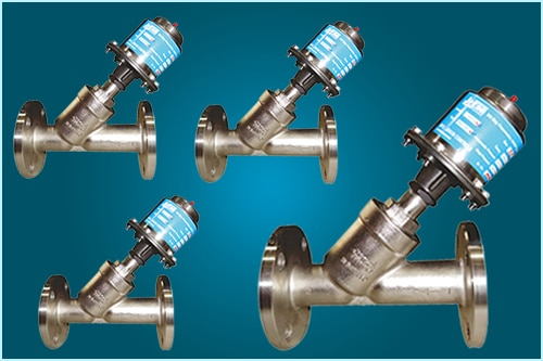 Pneumatic Y Type Control Valves